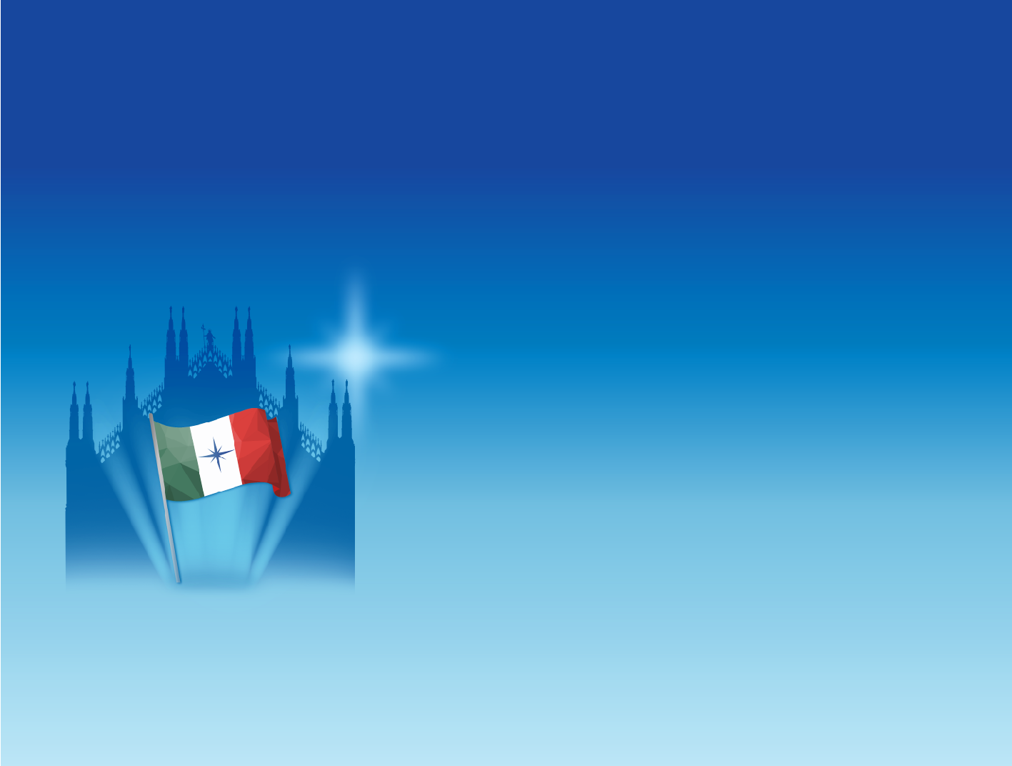 Duomo di Milano e tricolore italiano